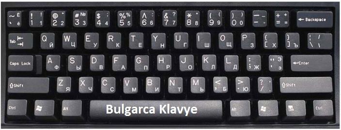 bulgarca klavye