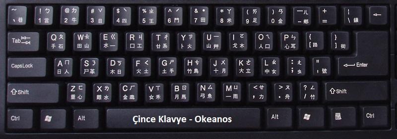 çince klavye
