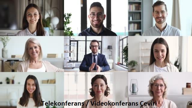 telekonferans ve videokonferans çeviri